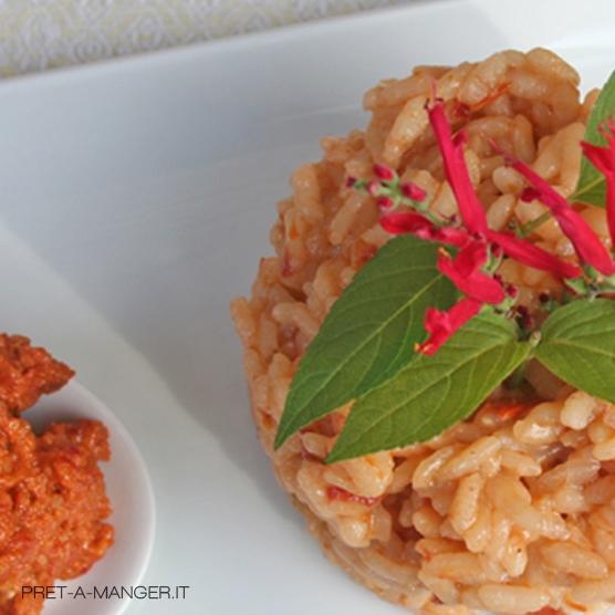 risotto-bitto-pesto-mandorle-pomodori